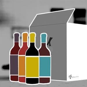 coffret de bouteille de vin