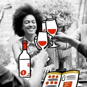 ouvrir une bonne bouteille de vin entre ami